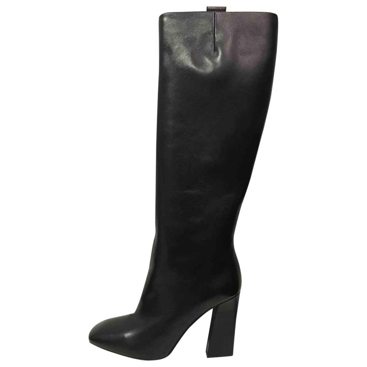 Armani Collezioni - Bottes   pour femme en cuir - noir