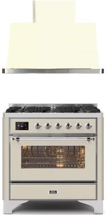 2 Piece Kitchen Appliances Package with UM096DNS3AWC 36