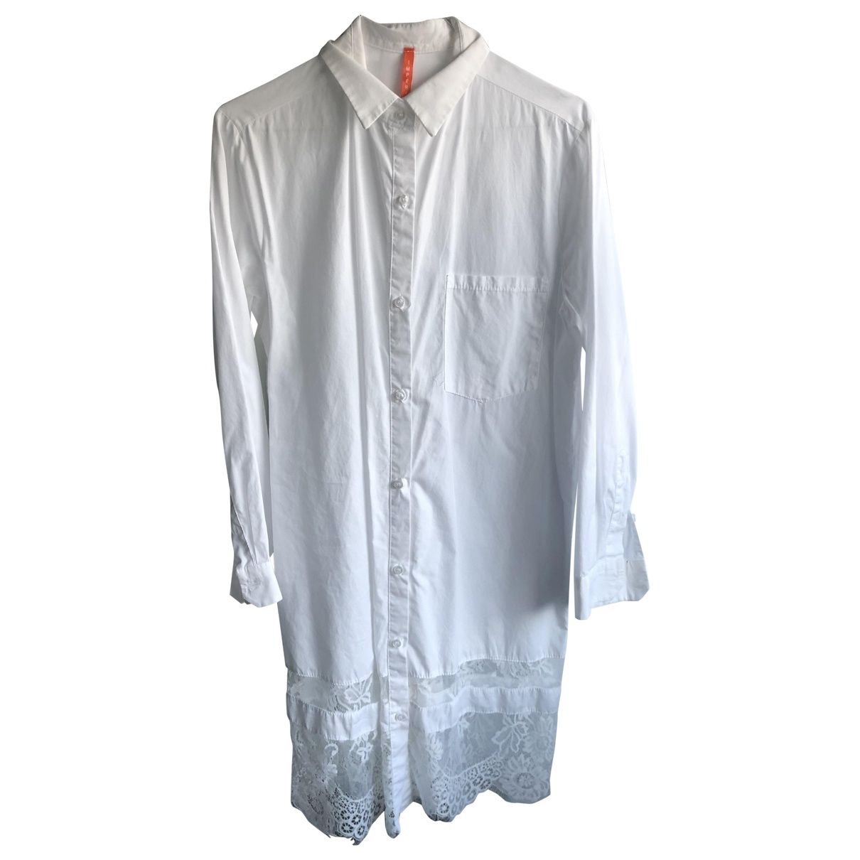 Impérial \N White Cotton dress for Women 36 FR