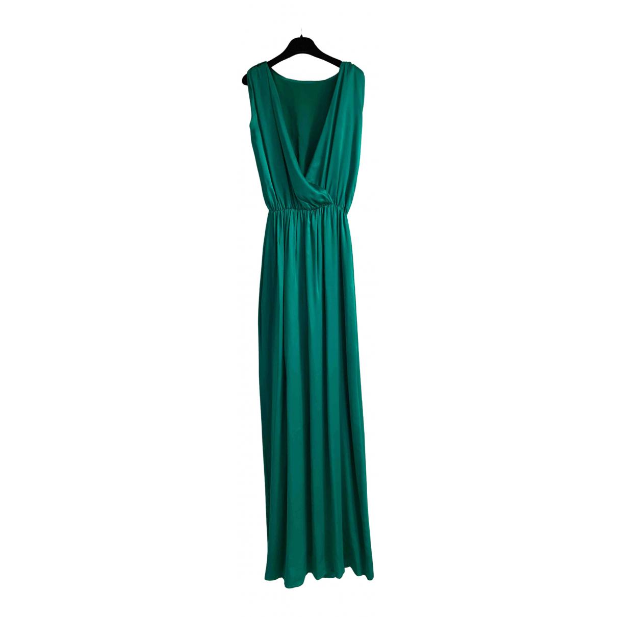 Non Signe / Unsigned Oversize Kleid in  Gruen Seide