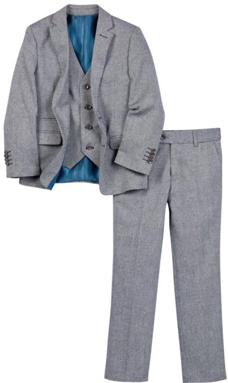 Mens 4 Button Vest Single Breasted Navy Linen Suit And Pant