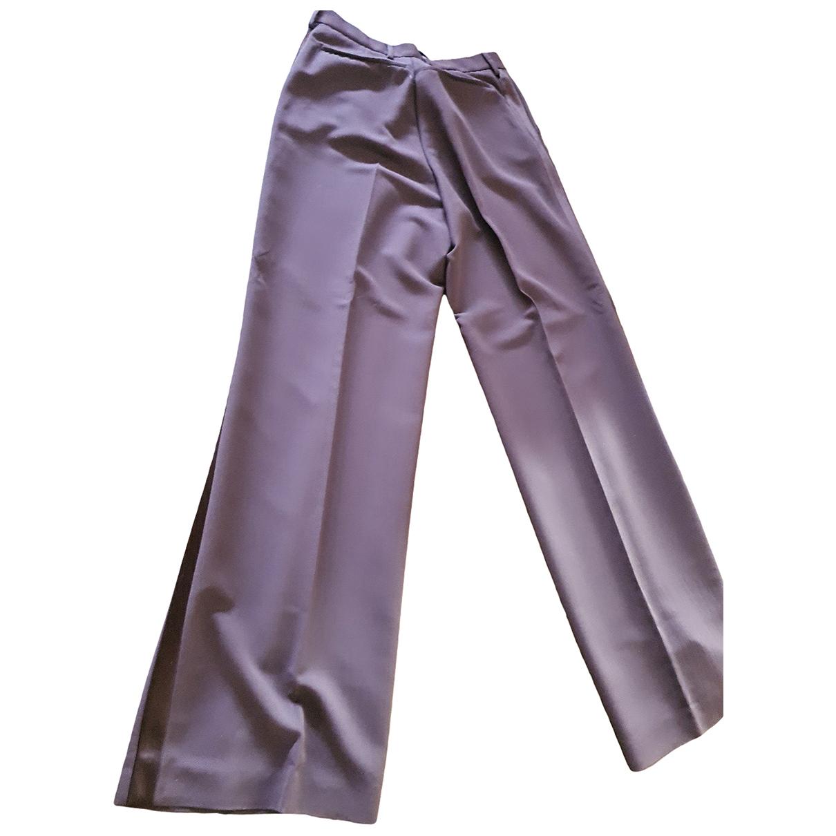Maison Martin Margiela \N Brown Wool Trousers for Women 42 IT