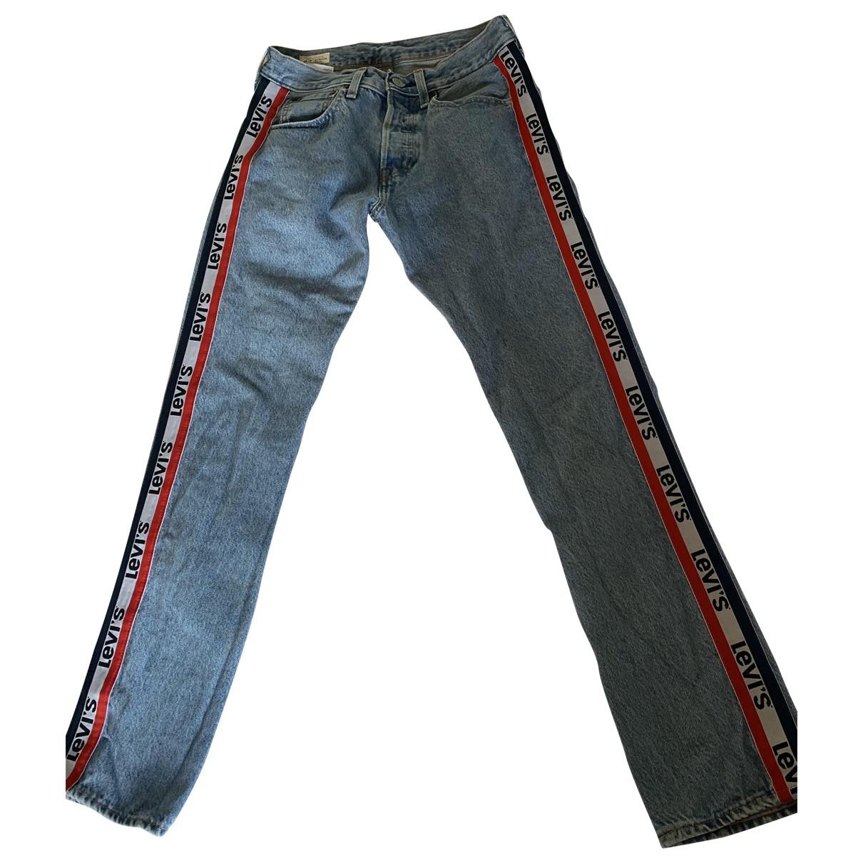 Levi's 501 Blue Cotton - elasthane Jeans for Men 28 US