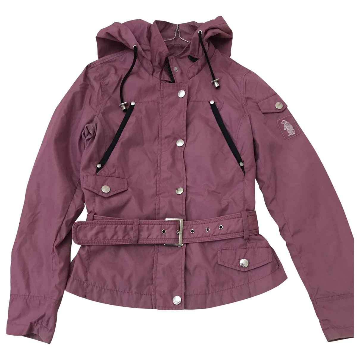 Non Signe / Unsigned \N Trench in  Rosa Polyester