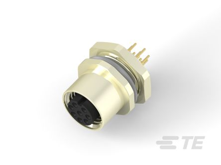 TE Connectivity Circular Connector, 8 contacts Panel Mount M12 Socket, Solder IP67