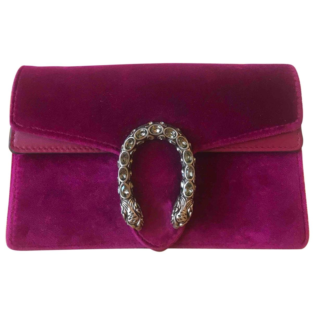 Gucci - Sac a main Dionysus pour femme en velours - violet
