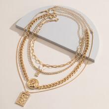 4 Stuecke Halskette mit Schmetterling Anhaenger und Kette