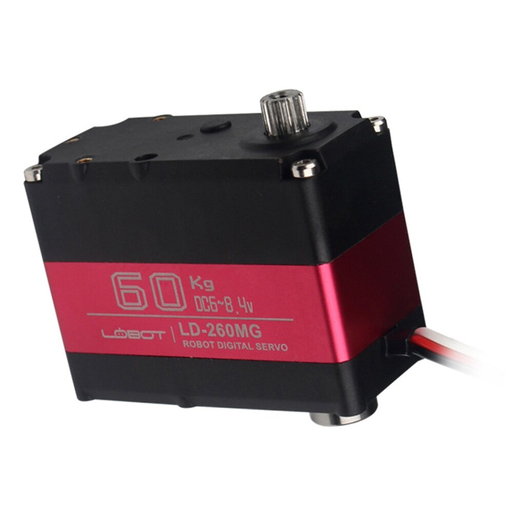 LOBOT LD-260MG 180° 60KG Large Torque Metal Gear Digital Servo For RC Robot