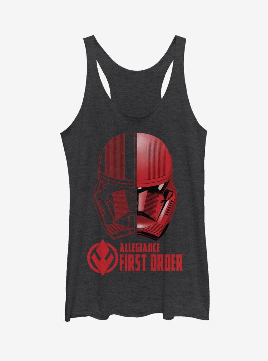 Star Wars Episode IX The Rise Of Skywalker Split Sith Trooper Womens Tank Top