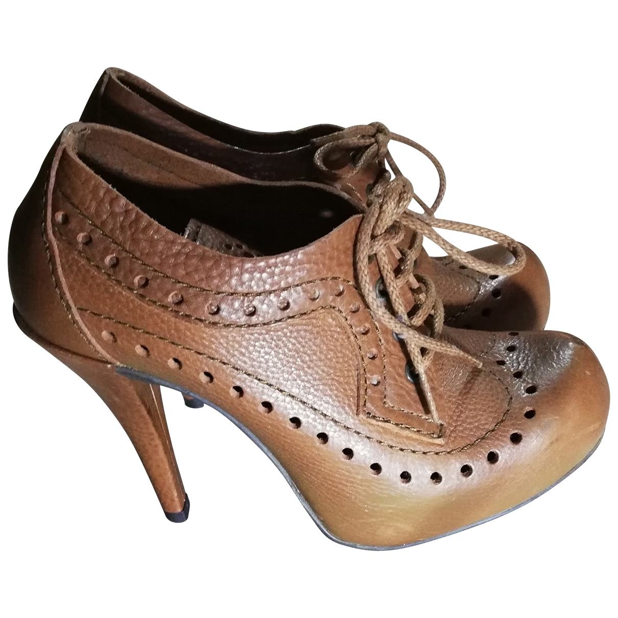 Pedro Garcia \N Brown Leather Heels for Women 37 EU