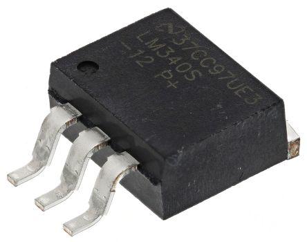 Texas Instruments , 12 V Linear Voltage Regulator, 1A, 1-Channel, ±2% 3-Pin, D2PAK LM340S-12/NOPB (5)