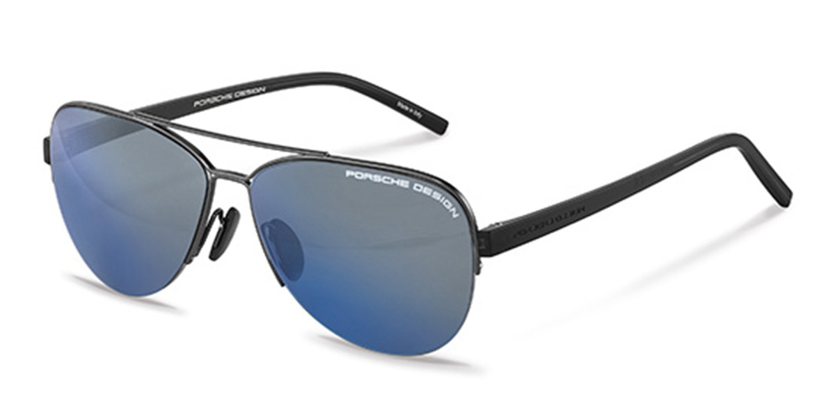 Porsche Design P8676 B Men's Sunglasses Grey Size 58