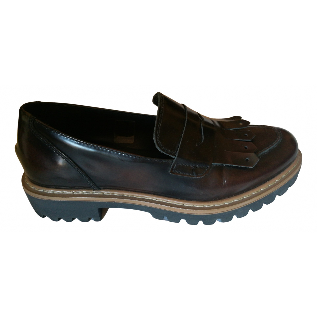 Intrend \N Brown Leather Flats for Women 36 IT