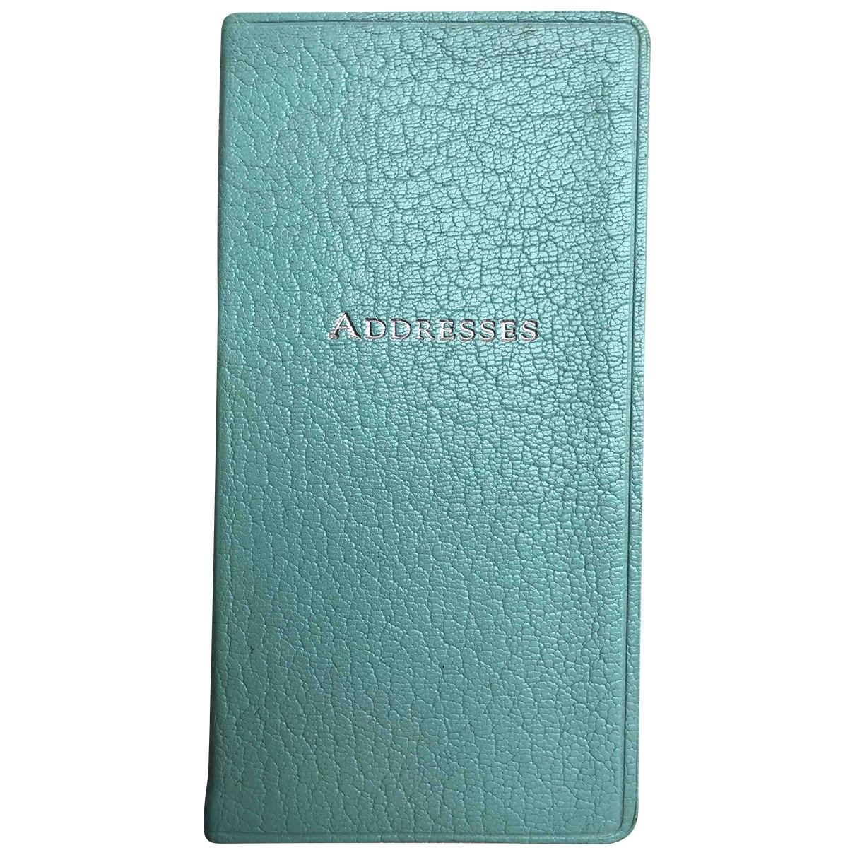 Tiffany & Co \N Accessoires und Dekoration in  Tuerkis Leder