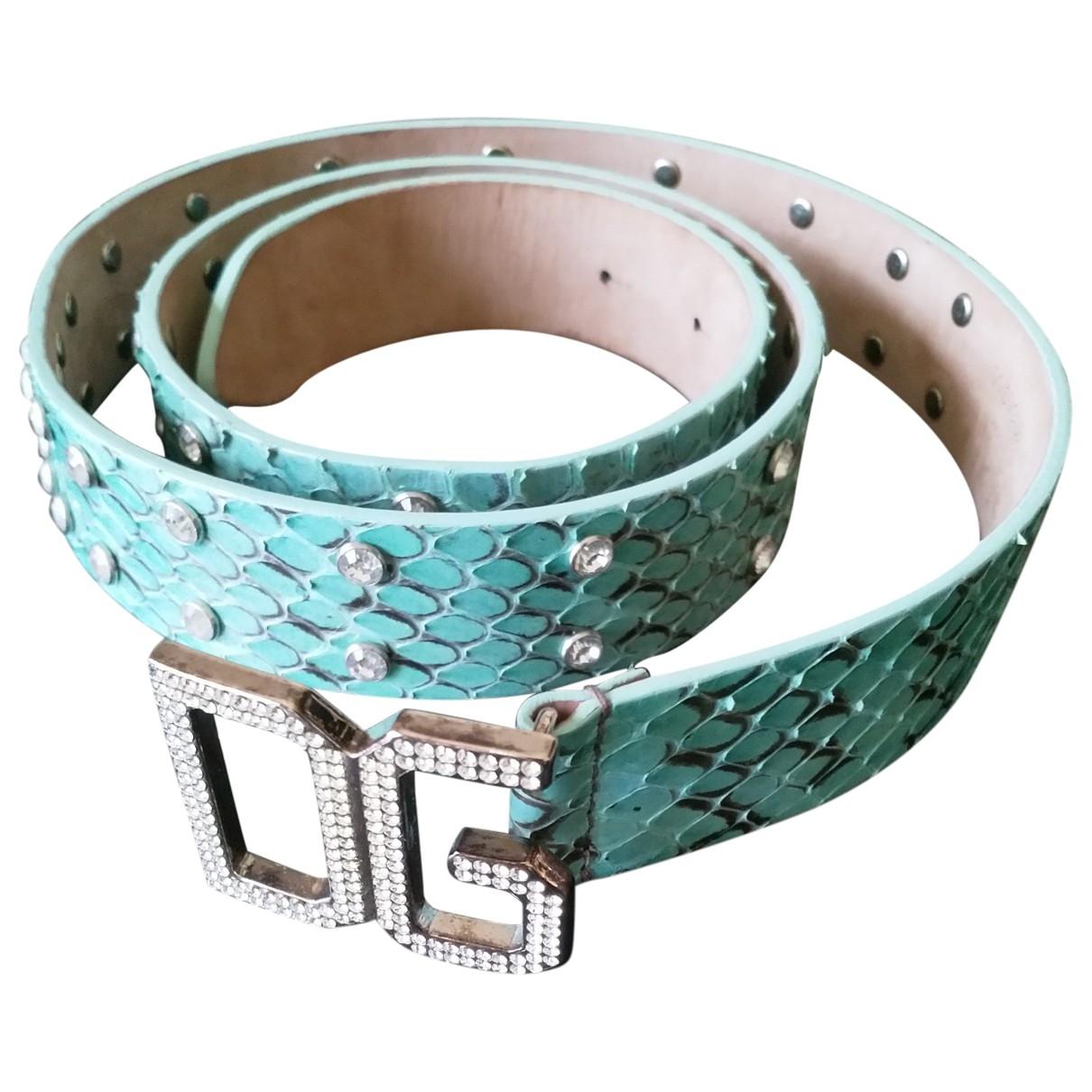 Dolce & Gabbana \N Guertel in  Tuerkis Python