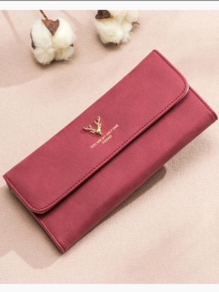 Yoins Deer Head Embellished Flip Design Hong Wallet Bag