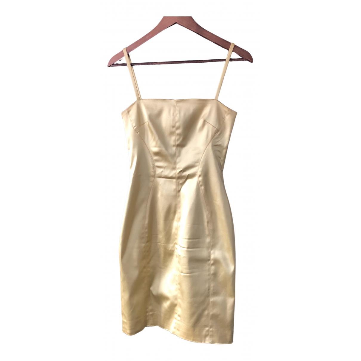 D&g \N Kleid in  Gelb Baumwolle