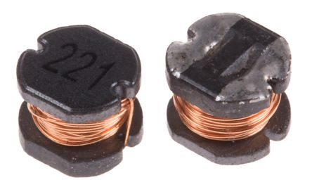 RS PRO , 54 Unshielded Wire-wound SMD Inductor 220 μH ±10% Wire-Wound 400mA Idc (20)