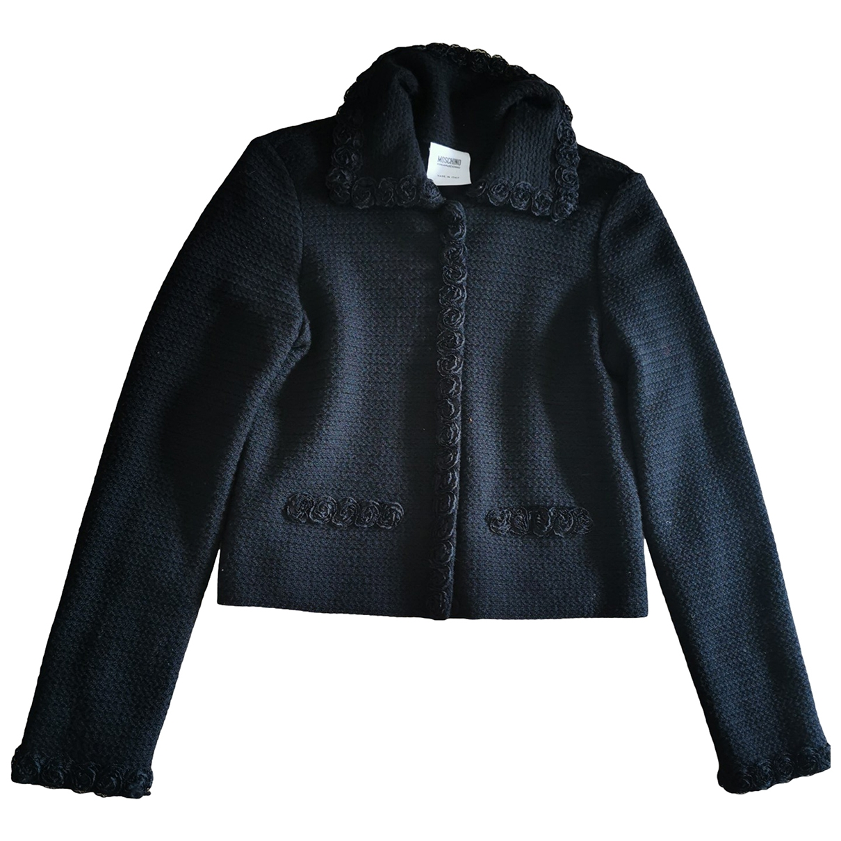 Moschino Cheap And Chic \N Black Wool jacket for Women 46 IT