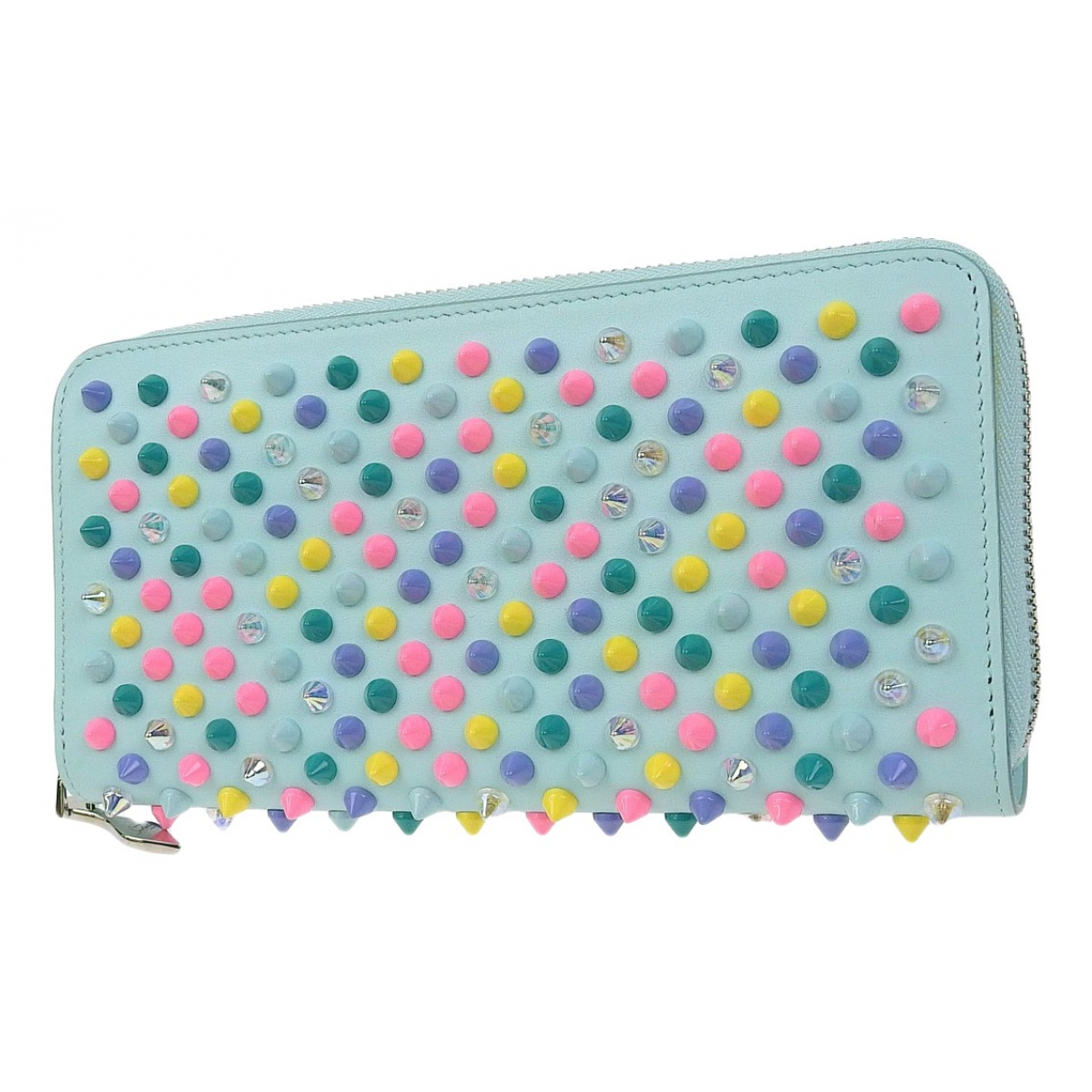 Christian Louboutin Panettone Blue Leather wallet for Women \N