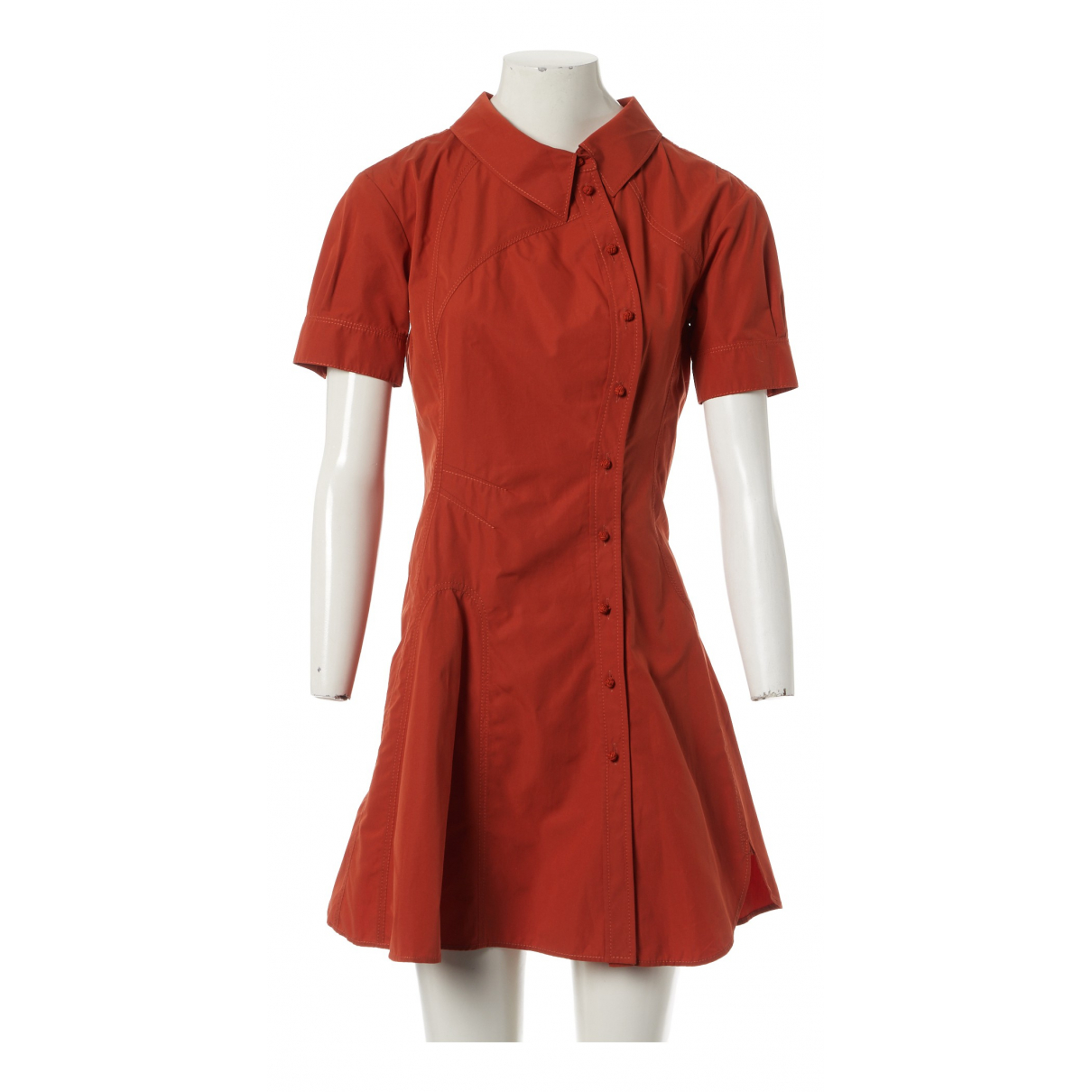 Louis Vuitton N Orange Cotton dress for Women 36 FR