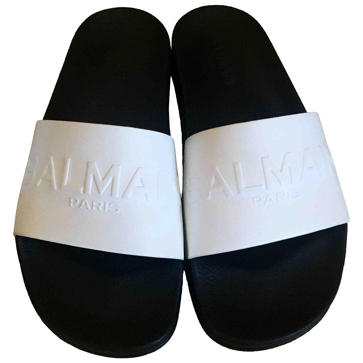 Balmain \N White Leather Sandals for Men 40 EU