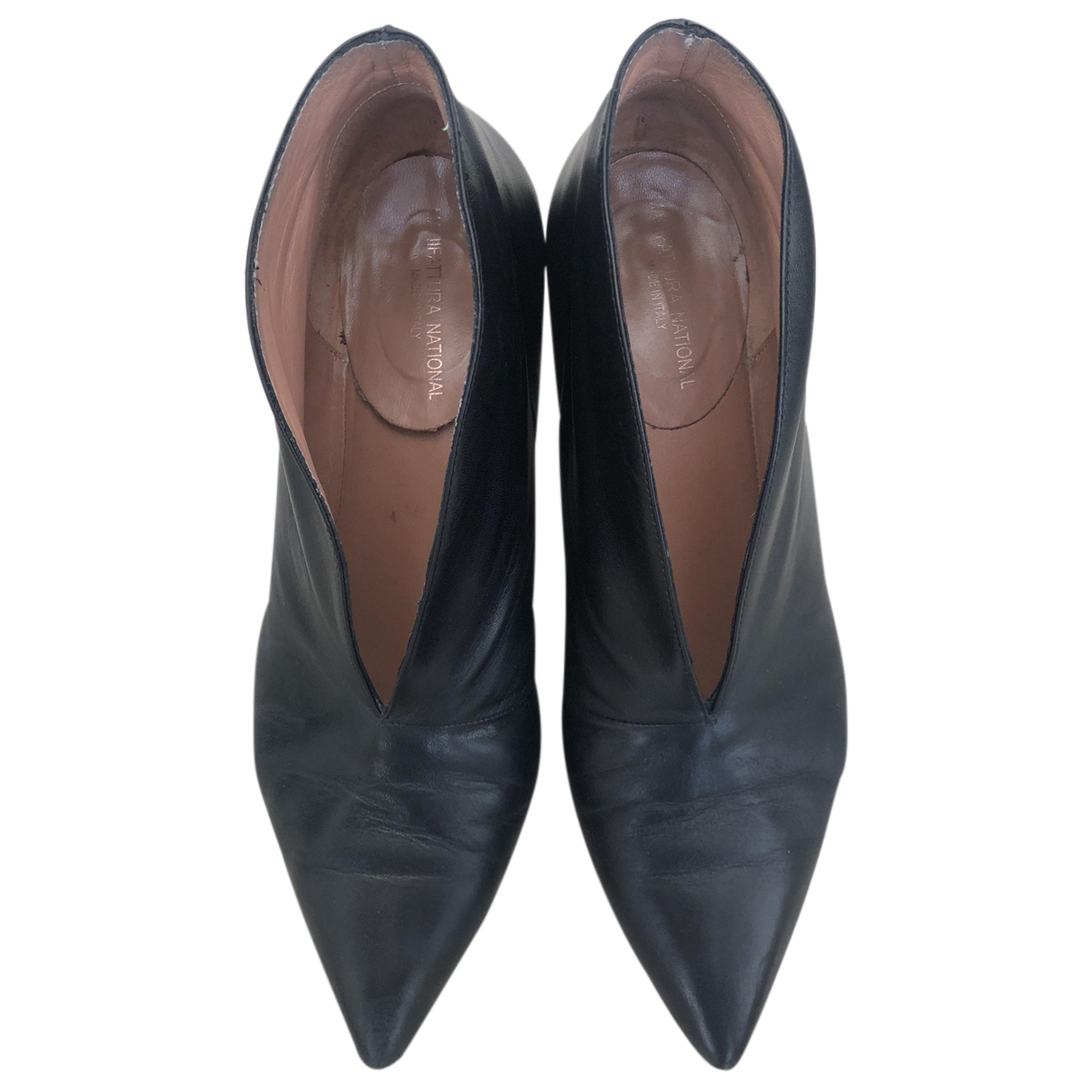 Non Signé / Unsigned N Black Leather Heels for Women 41 IT