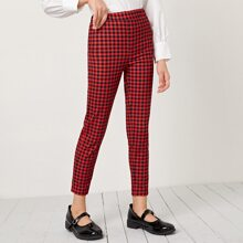 Girls Buffalo Plaid Skinny Pants
