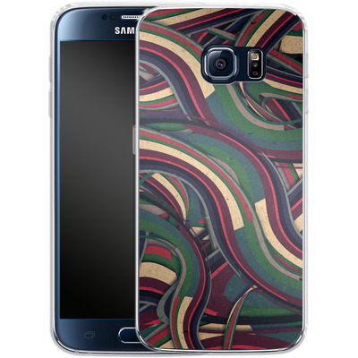 Samsung Galaxy S6 Silikon Handyhuelle - Swirl Madness von Danny Ivan