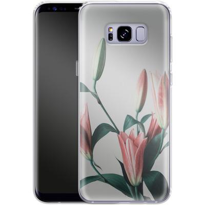 Samsung Galaxy S8 Plus Silikon Handyhuelle - Blume von SONY