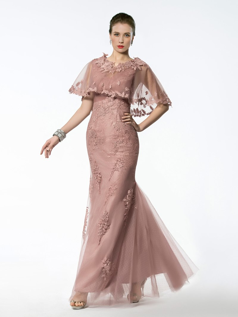 Ericdress V Neck Appliques Mermaid Mother of the Bride Dress