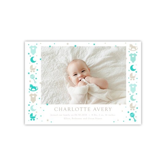 20 Pack of Gartner Studios® Personalized Icons Flat Baby Announcement in Island   5