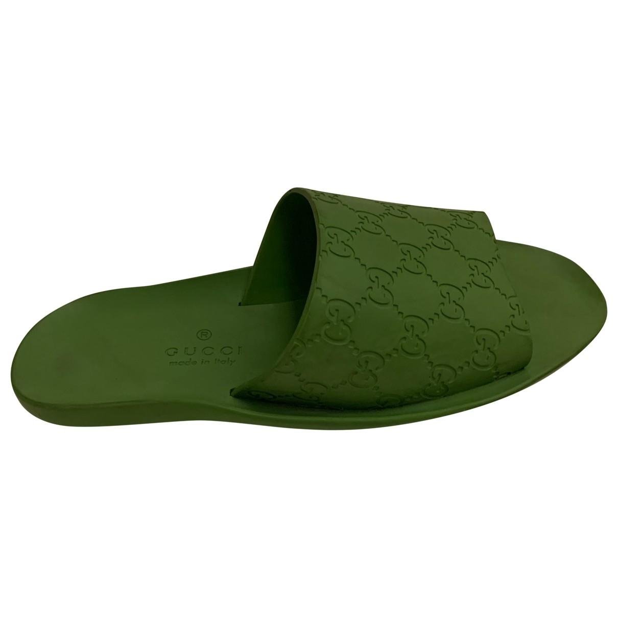 Gucci \N Sandalen in  Gruen Kunststoff