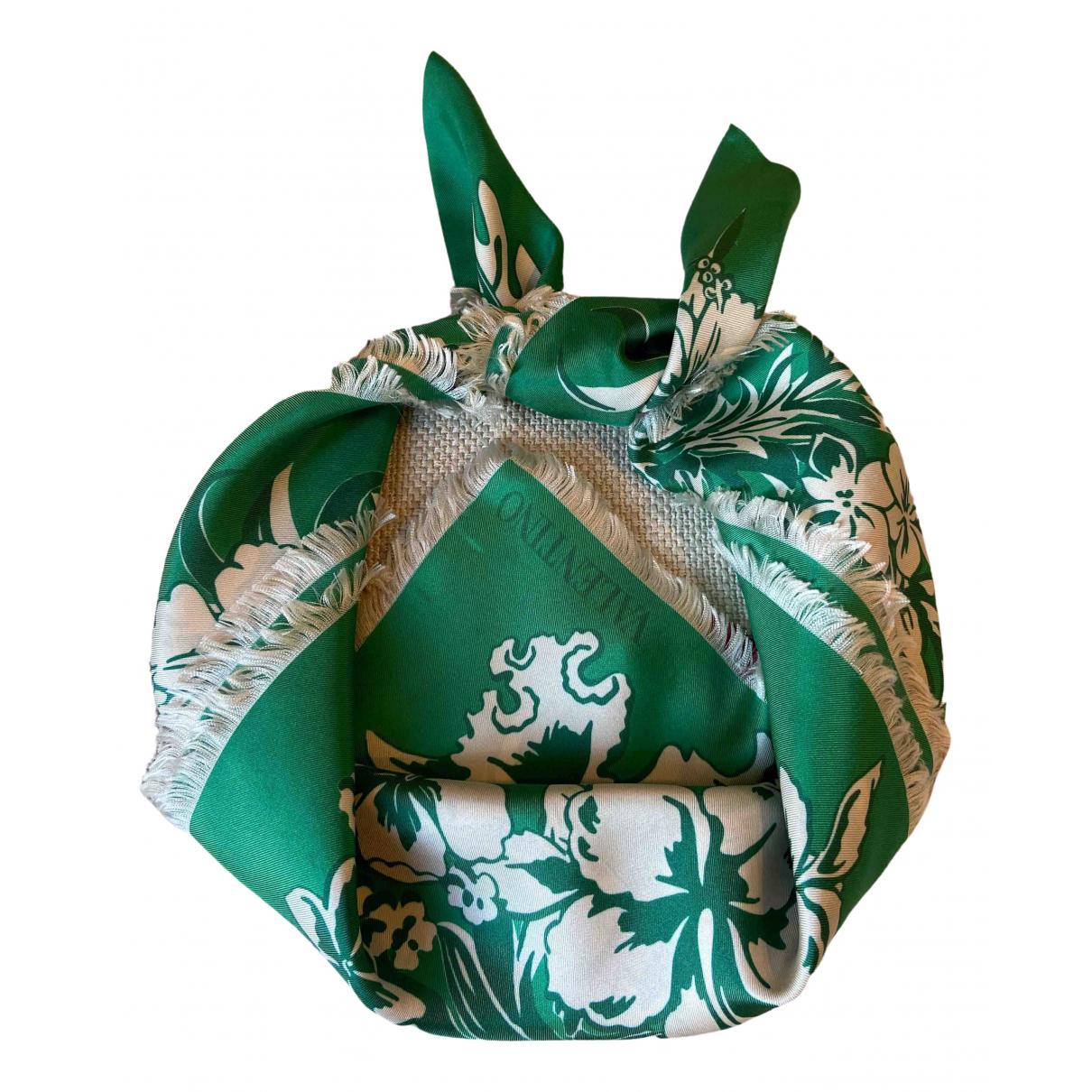 Valentino Garavani N Green Silk Silk handkerchief for Women N