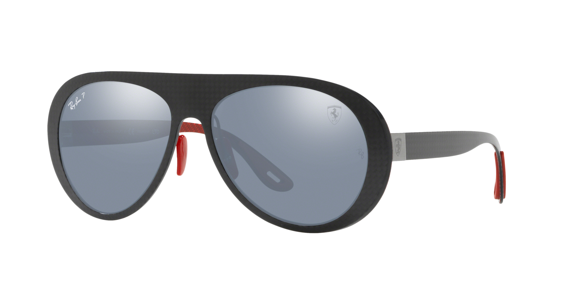 Ray Ban Man  RB8321M SCUDERIA FERRARI ITALY LIMITED EDITION -  Frame color: Gunmetal, Lens color: Blue/Silver Mirror Chromance Polarized, Size 58-16/1