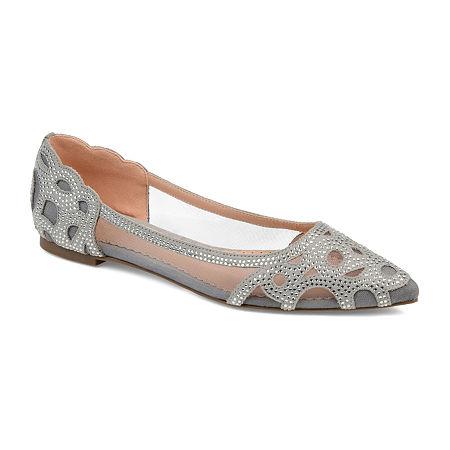Journee Collection Womens Batavia Slip-On Shoe, 8 Medium, Gray