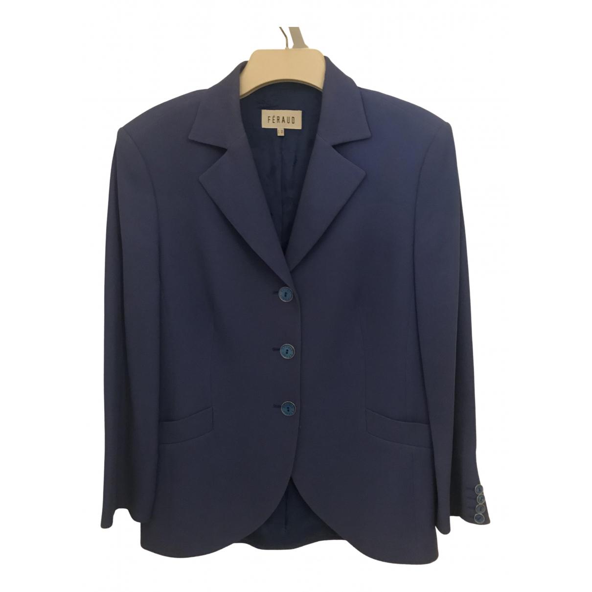 Louis Feraud N Blue Cotton jacket for Women 44 FR