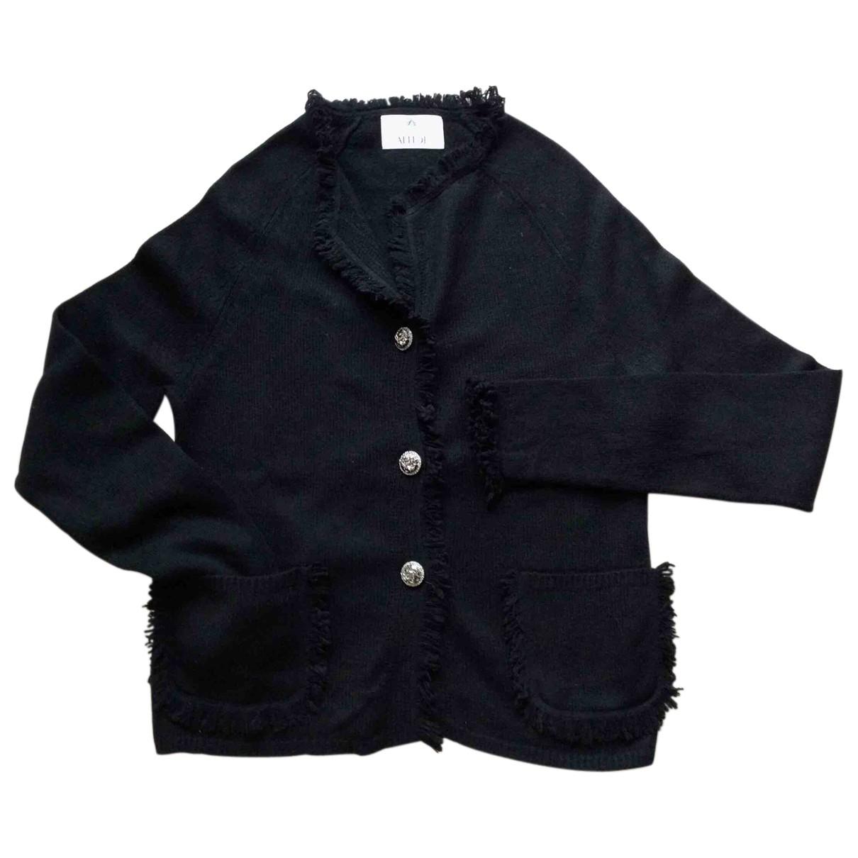 Allude - Pull   pour femme en laine - noir