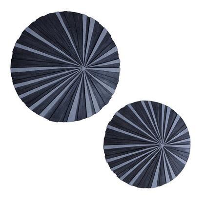 SGS-3538 Sandstone fine polished round wall decor w/ stardust ribbed finish..19 x