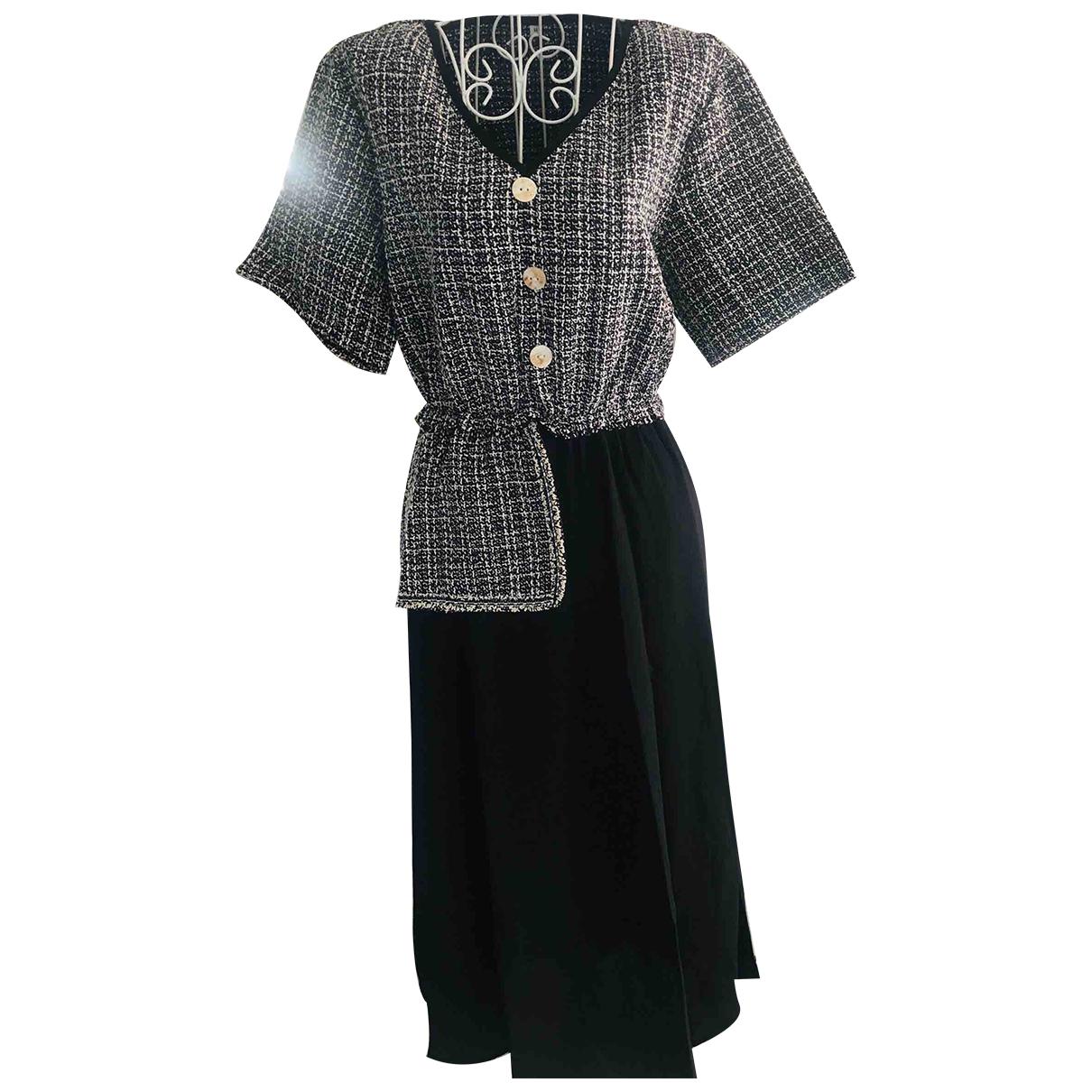 - Robe   pour femme en tweed - noir