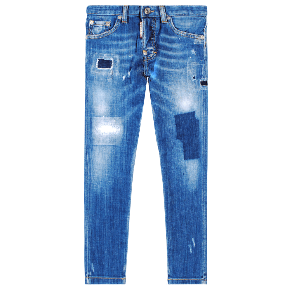 Dsquared2 Kids Skater Jeans Blue Colour: BLUE, Size: 6 YEARS