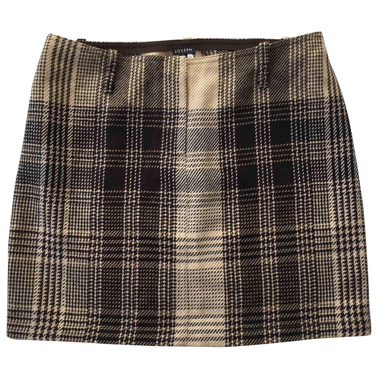 Joseph \N Beige Wool skirt for Women S International