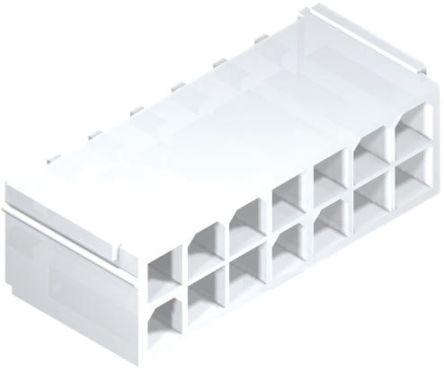 Molex , Mini-Fit Jr, 87427, 16 Way, 2 Row, Straight PCB Header (10)