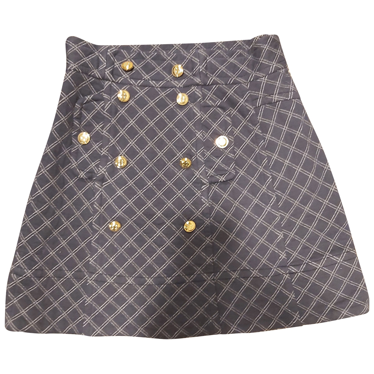 Marc By Marc Jacobs \N Navy Cotton skirt for Women 36 FR