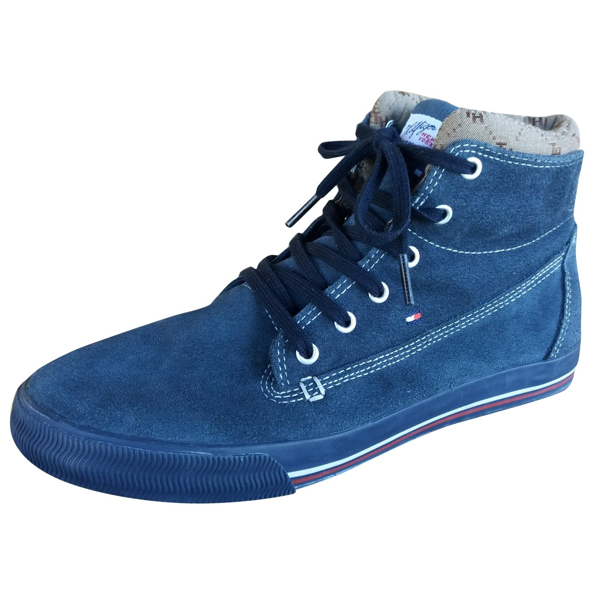Tommy Hilfiger \N Blue Suede Trainers for Women 39 EU