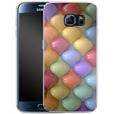 Samsung Galaxy S6 Silikon Handyhuelle - Oval Pattern von Danny Ivan