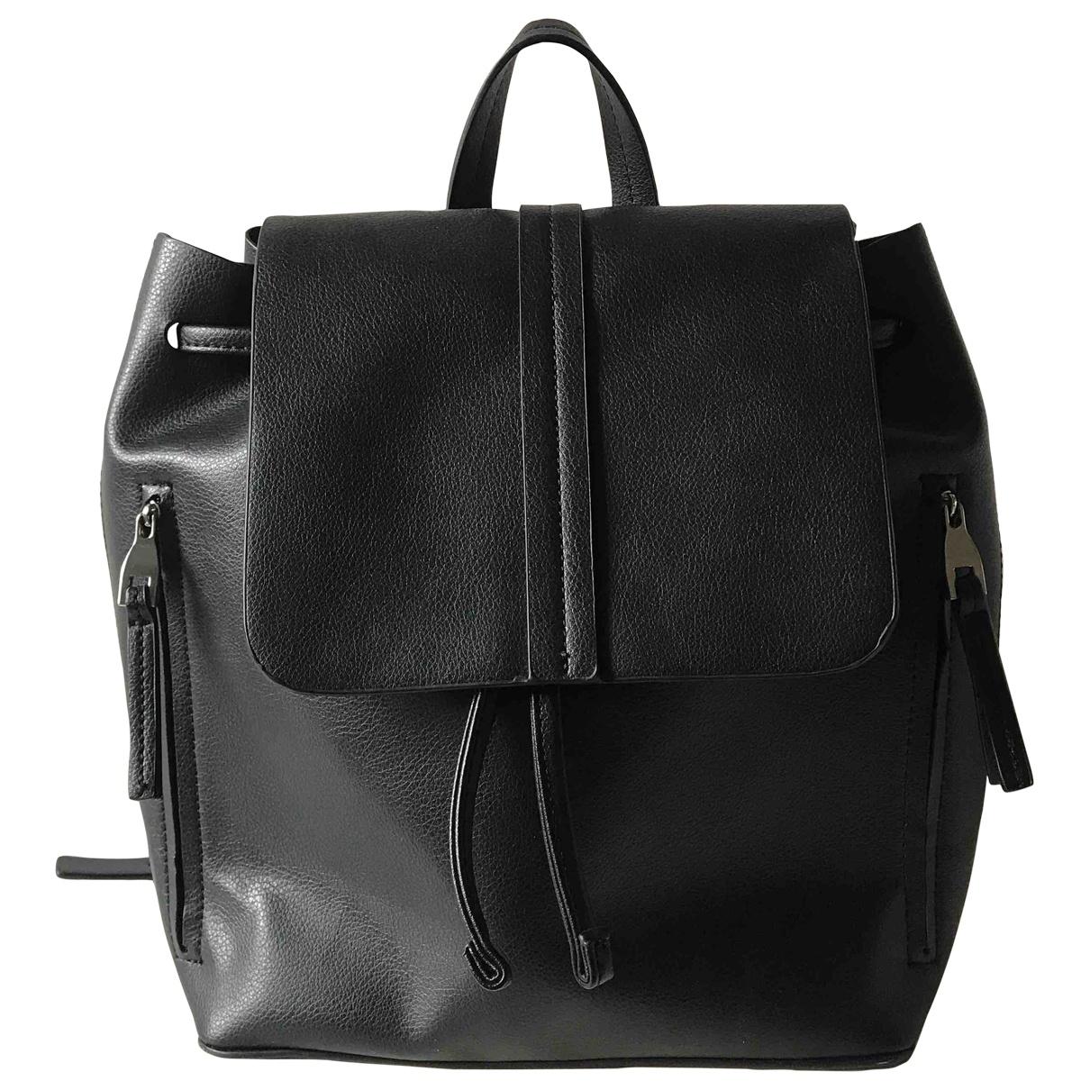 Zara \N Black Leather backpack for Women \N