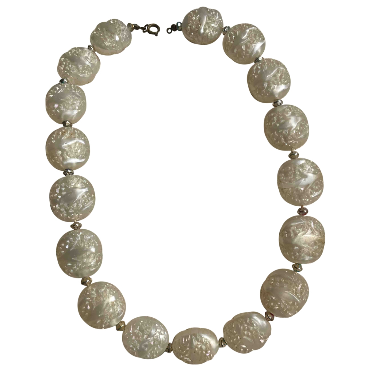 Non Signé / Unsigned \N Ecru necklace for Women \N