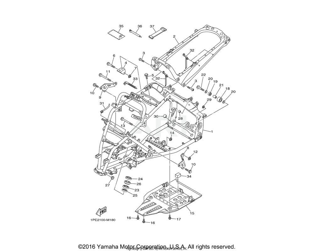 Yamaha OEM 1S3-21317-10-00 STAY, ENGINE 3
