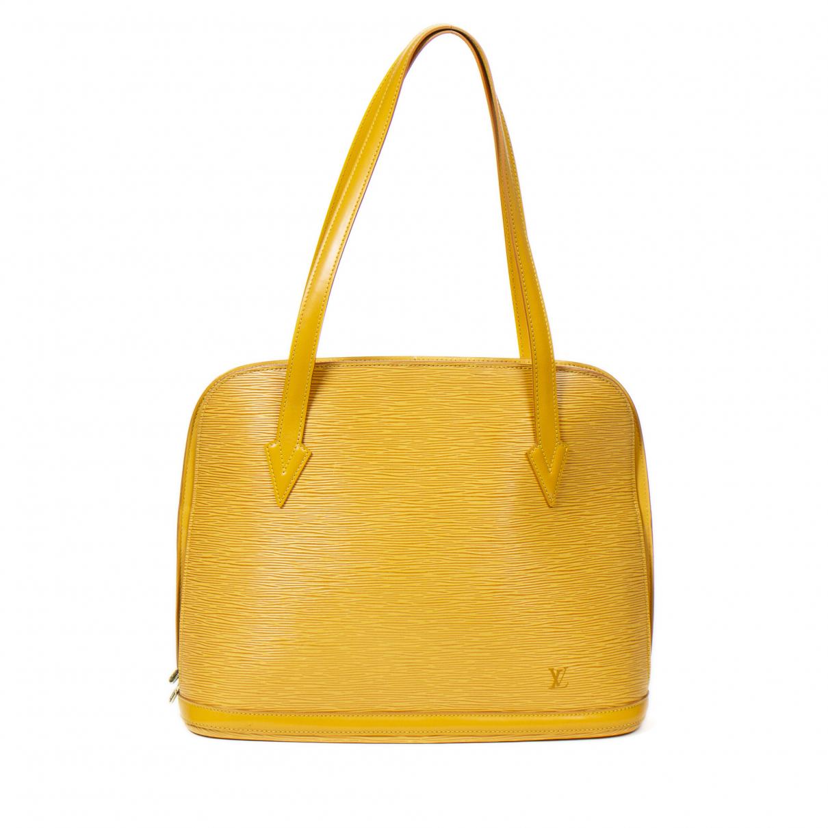Louis Vuitton Lussac Handtasche in  Gelb Leder